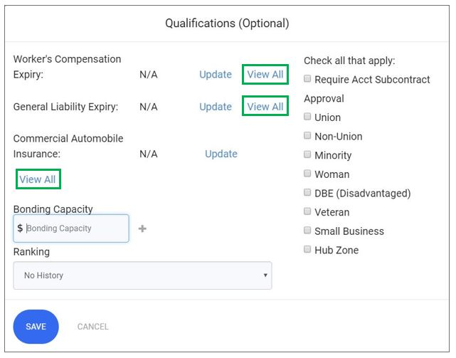 Qualifications Insurance View All