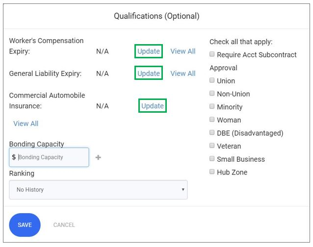 Qualifications Insurance