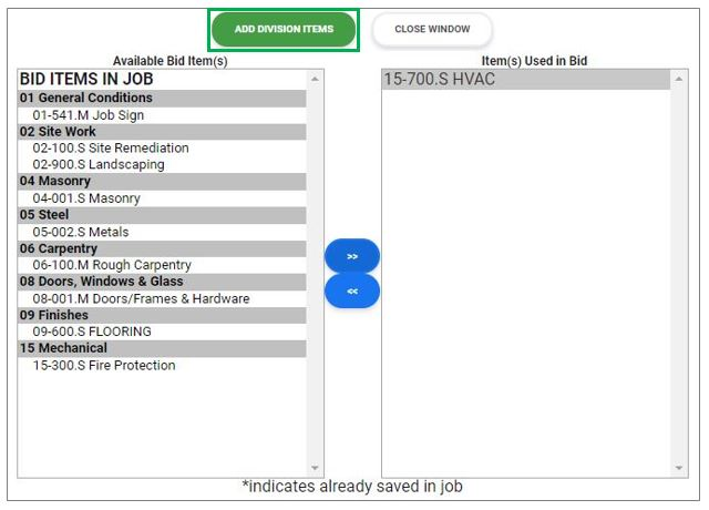 RFP Add Item Cost Screen 2