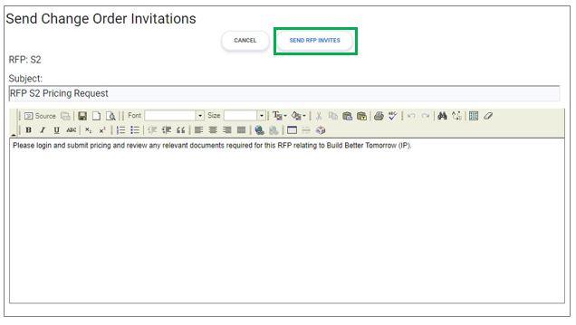 Send Change Order Invites