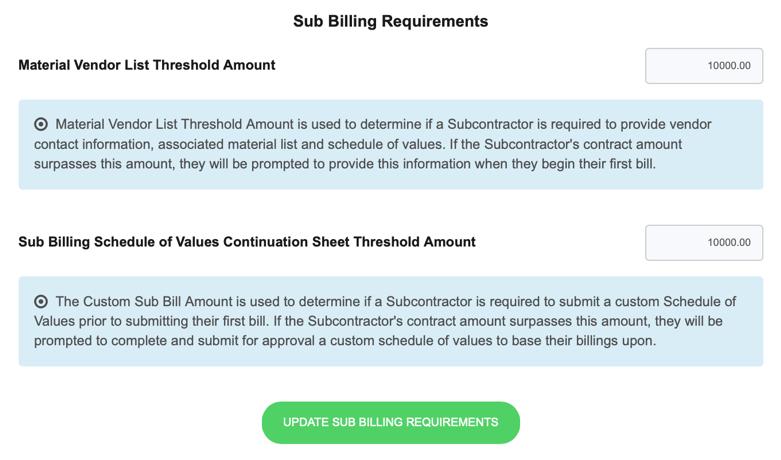 Sub Billing Requirements-1