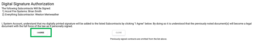 Subcontract I Agree