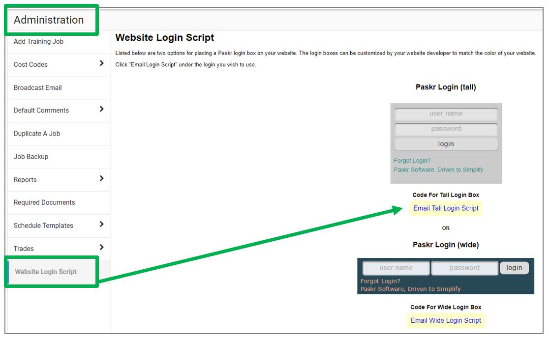 Website Login Script