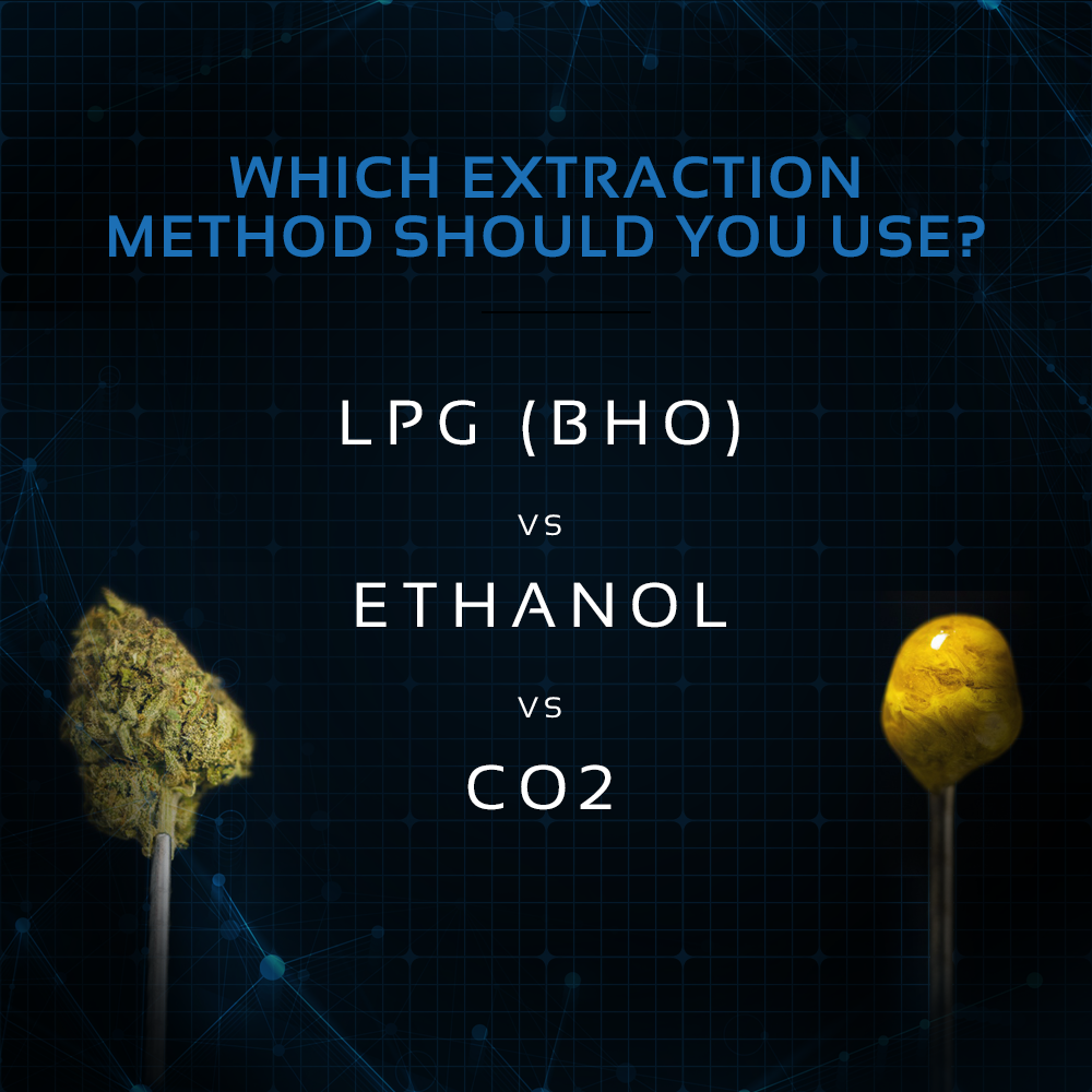 Which extraction method should you use? LPG (BHO) vs  Ethanol vs CO2