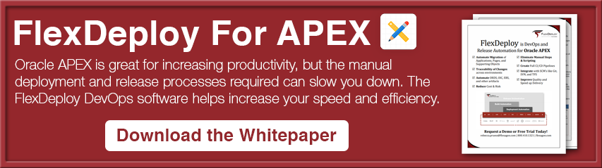 FlexDeploy Loves APEX : Deploy individual application pages