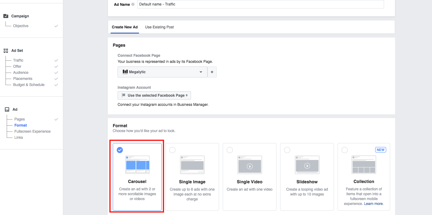 Facebook Carousel Ads: Creating & Reporting