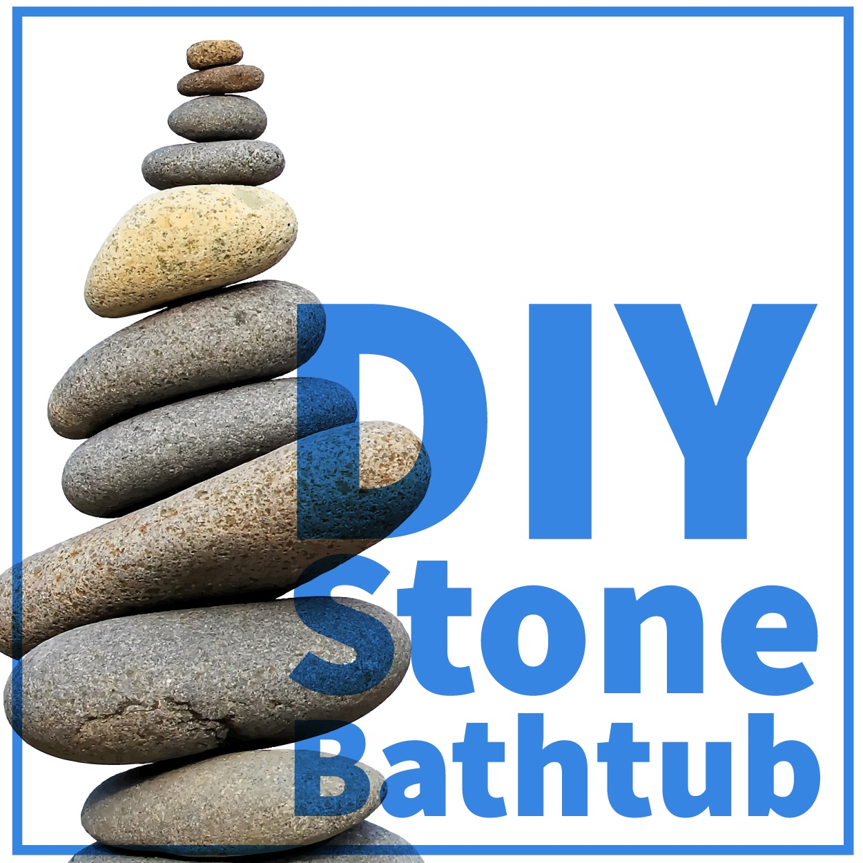 DIY Stone Bathtub - smcapproved.com