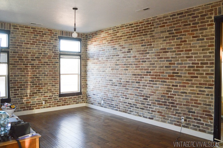 Diy Faux Brick Wall Stockton Mortgage