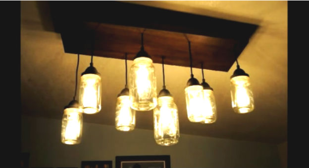 Diy mason jar chandelier smcapproved the best part is this mason jar chandelier diy is pretty straight forward to pull off as well as cost efficient theres even a video by the diyer to walk aloadofball Images