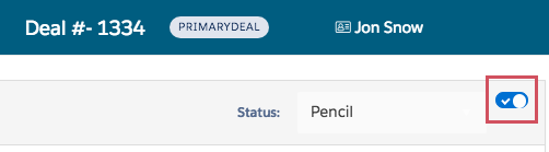 Toggle Switch Icon on Deal Page
