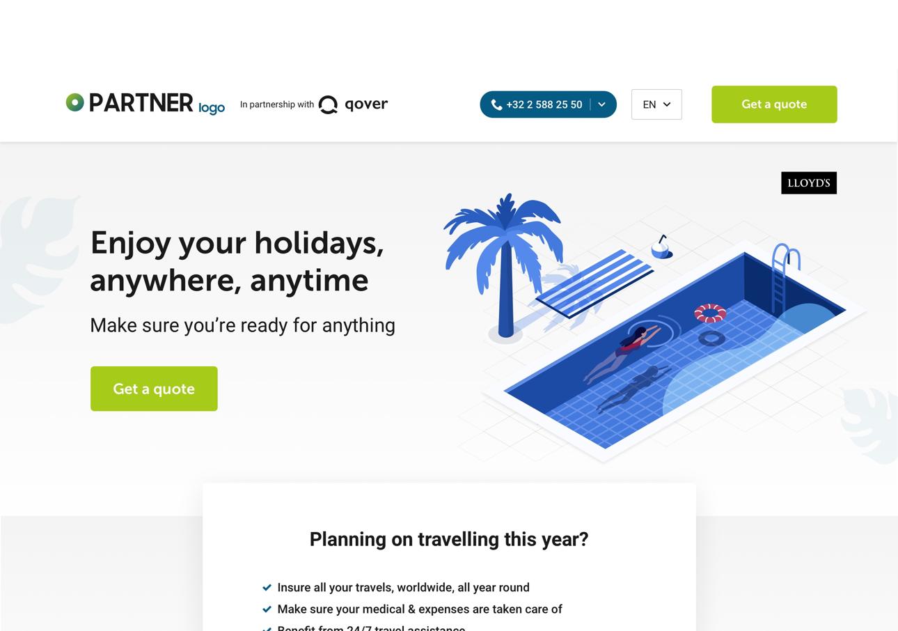Branded digital white label travel insurance