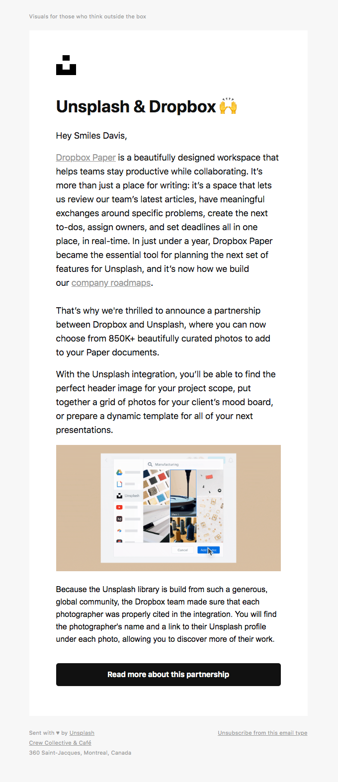 co-marketing email