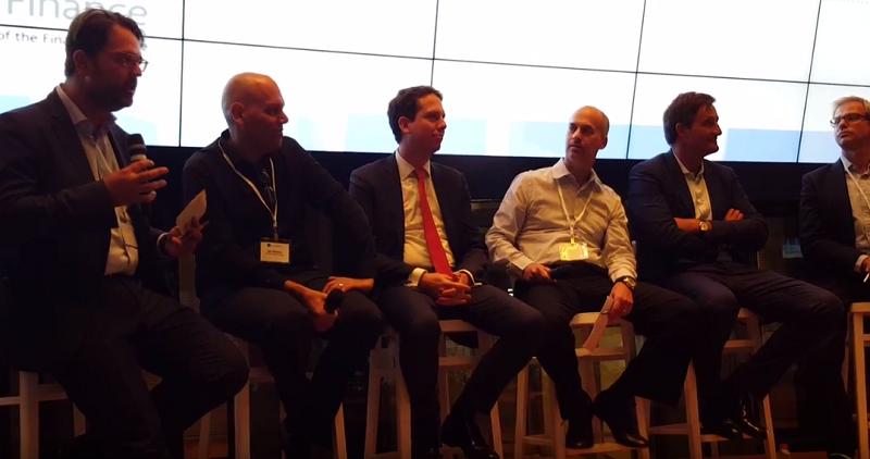 Securities Digitlization Panel (L to R: Frederic Becker, Gal Landau-Yaari, Marc Robert-Nicoud, Ronen Kertis, Nicolas Buck and Paolo Brinardello