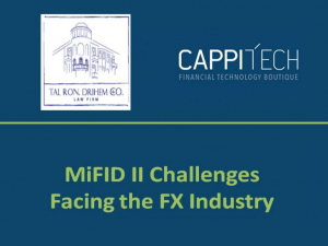 Slideshow about MiFID II Challenges facing the FX industry