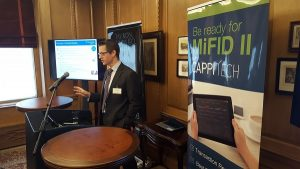 Working with TRAX to educate investment firms about MIFID II last year