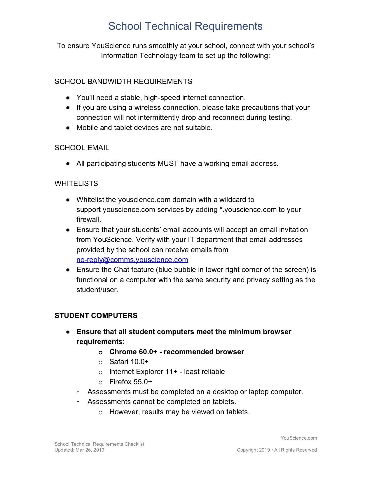 C - Technical Requirements Checklist Updated 3_29_19