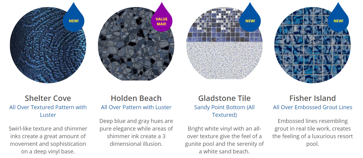 18d1e7e5aab2 BONUS INFORMATION  Textured vinyl is great but it is not a substitute for  good pool chemistry. You still need to maintain the proper chemical balance  in ...