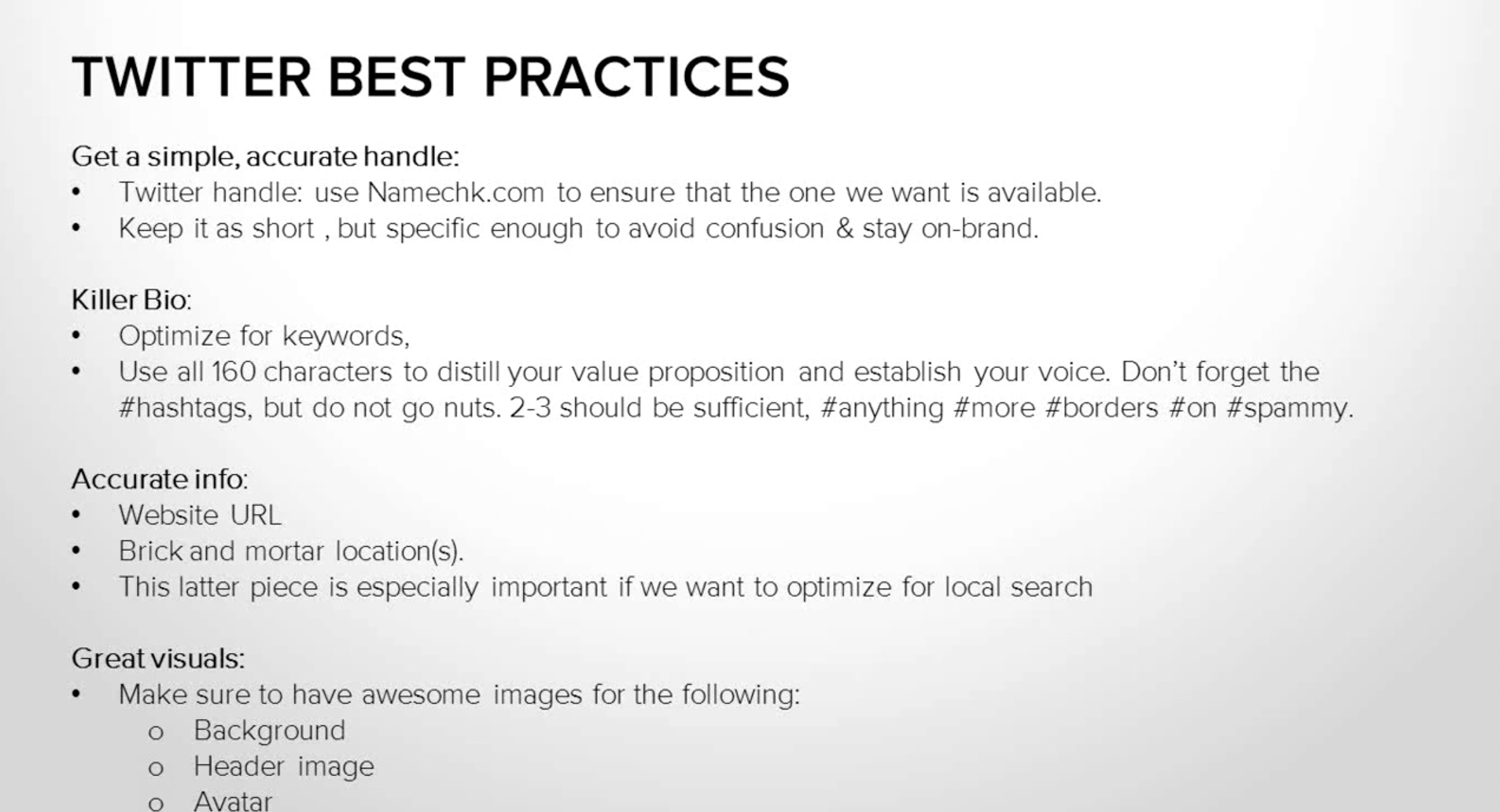 Twitter Best Practices from HubSpot