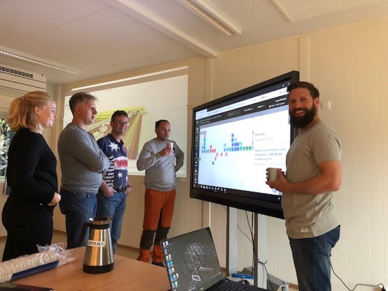 Helse Bergen team using Touchplan