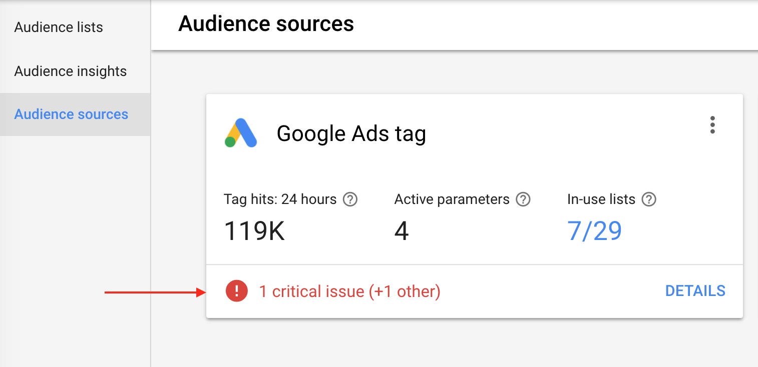 adwords critical issue