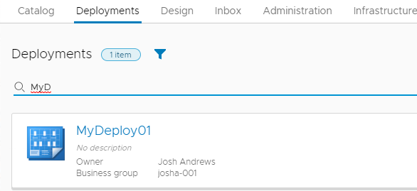 Automate Renaming Your vRA deployments 10