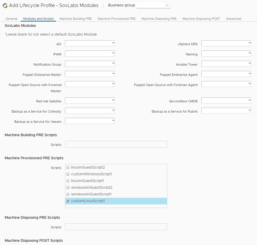 How to Create a Custom Script Input Field in vRealize Automation 12