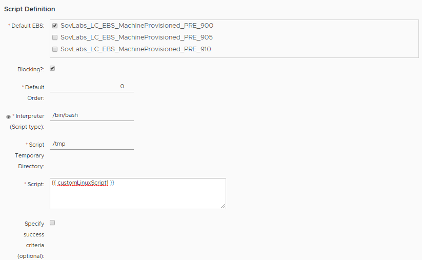 How to Create a Custom Script Input Field in vRealize Automation 8
