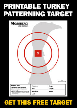photo about Turkey Target Printable named MOSS16006 Turkey Patterning Focus CTA O.F. Mossberg