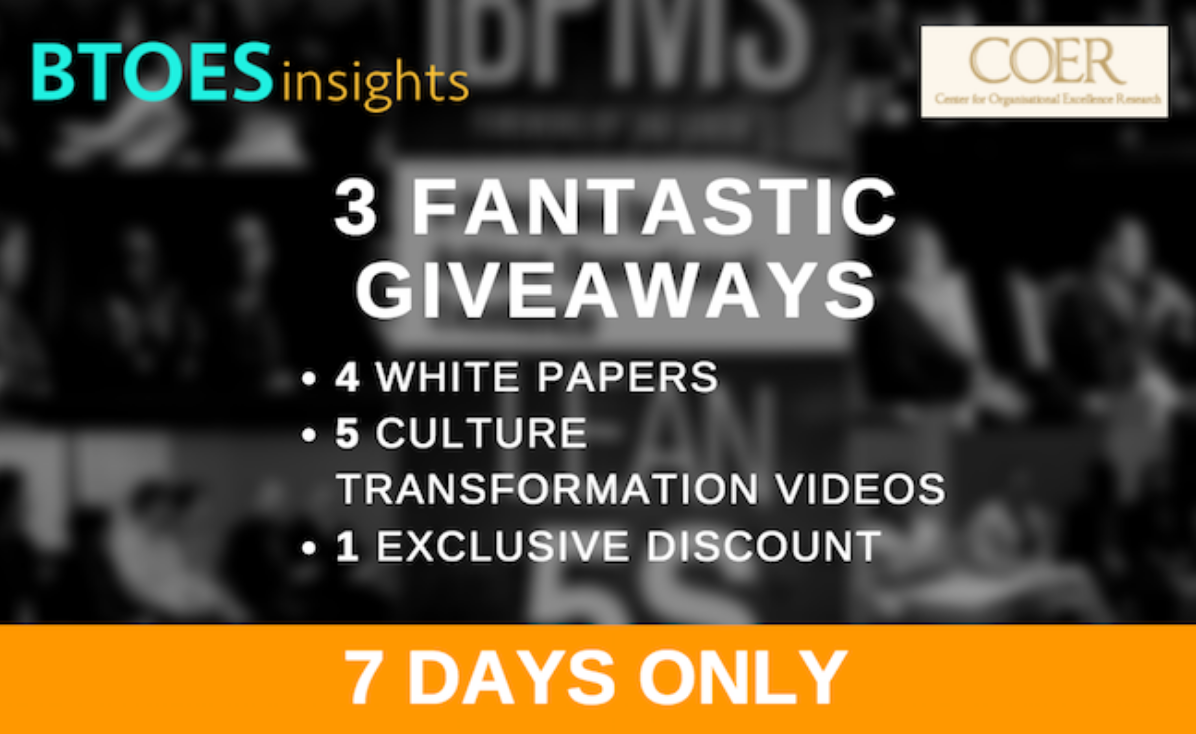 3 Fantastic Giveaways from Business Transformation & Operational Excellence Insights