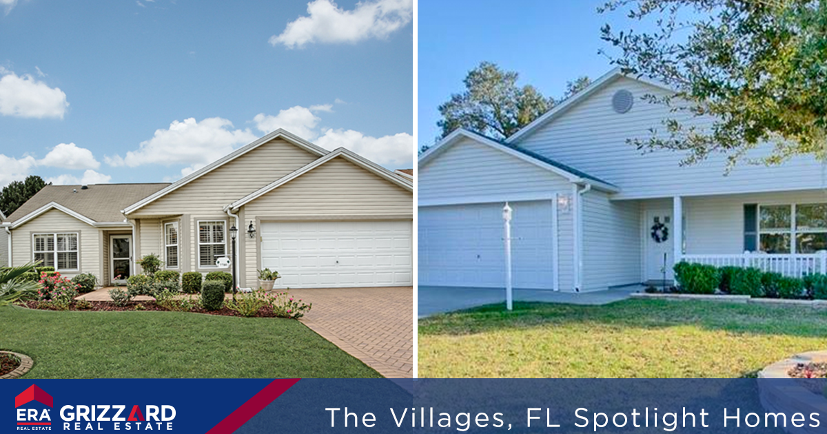 two homes for sale in the villages fl featuring desirable