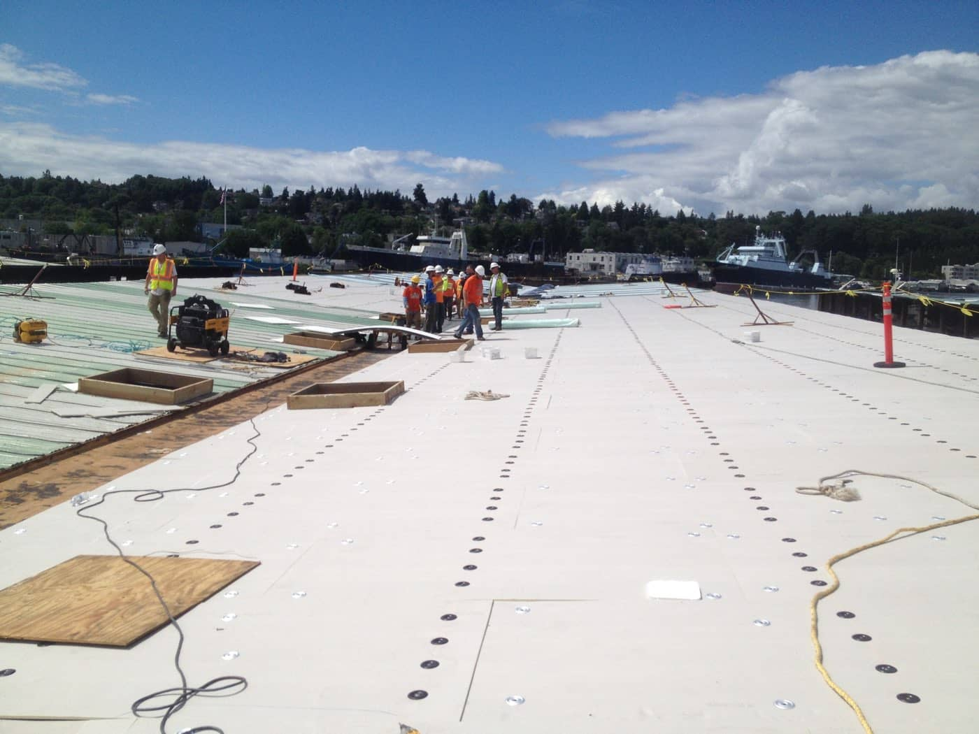 Fibertite Induction Welded Roofing System