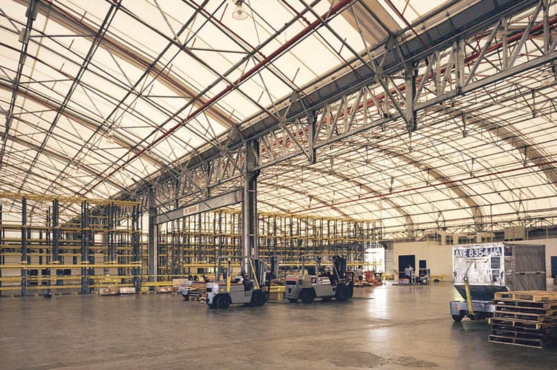 ... Fabric Roof Airport Hangar Interior ...
