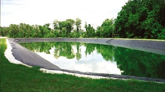 Wastewater pond liner withstands florida sunshine for Design of evaporation pond