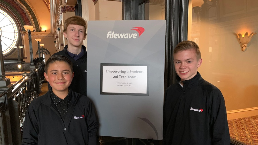 Members of the LCS student tech team attended the 2018 FileWave Alliance Conference