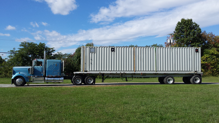 Containerized Modular Wastewater Treatment System Being Delivered - lr