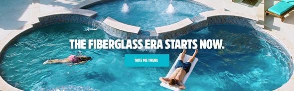 Fiberglass Pool Designs fiberglass vs vinyl liner vs concrete your guide to pool happiness Latham Fiberglass Pools Web Banner Get Out Of The Stone Age