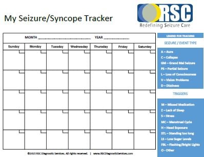 seizure diary template - the importance of using a seizure tracker