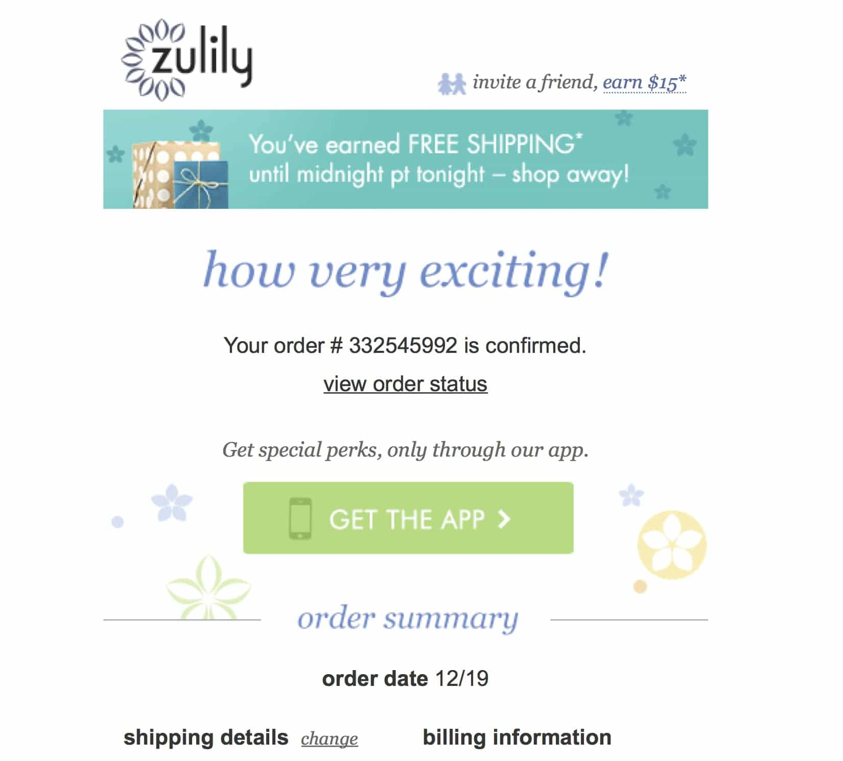 Exciting Order Confirmation Emails Excited Customers