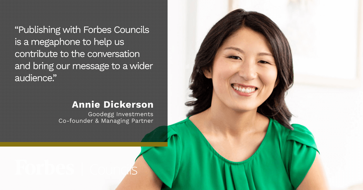 Forbes Councils Gives Annie's Business Increased Visibility
