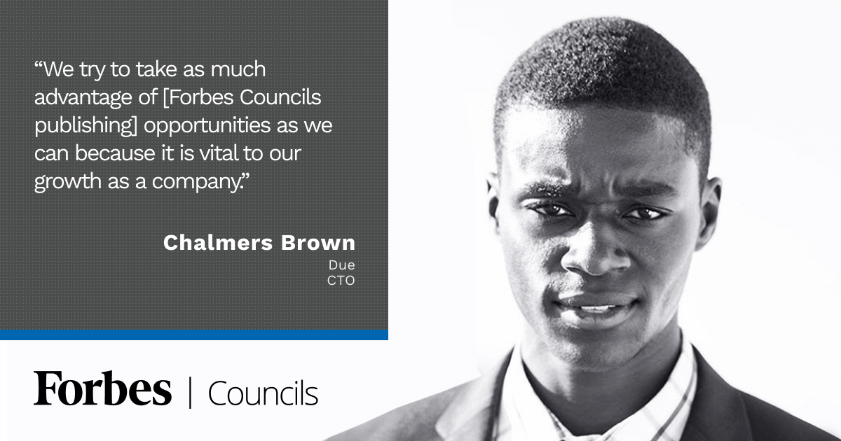 Forbes Councils Publishing Drives Content Marketing Success for Chalmers Brown