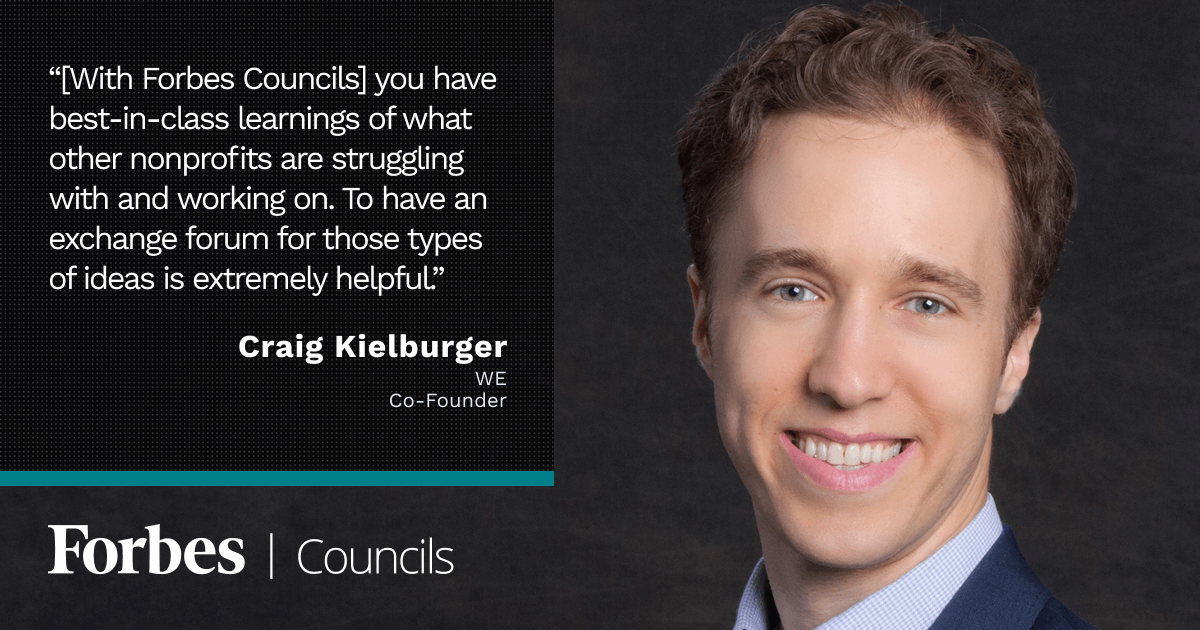 Craig Kielburger says Forbes Councils Showcases Best-in-Class Knowledge