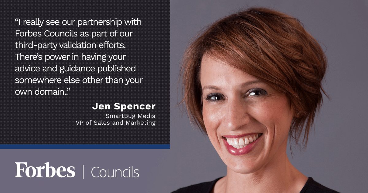 Forbes Councils Publishing Gives Jen Spencer Valuable Third-Party Validation