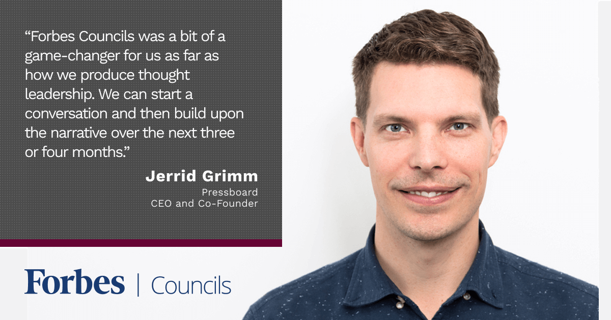 Jerrid Grimm Says Forbes Councils Publishing Gives His Company Immediate Credibility