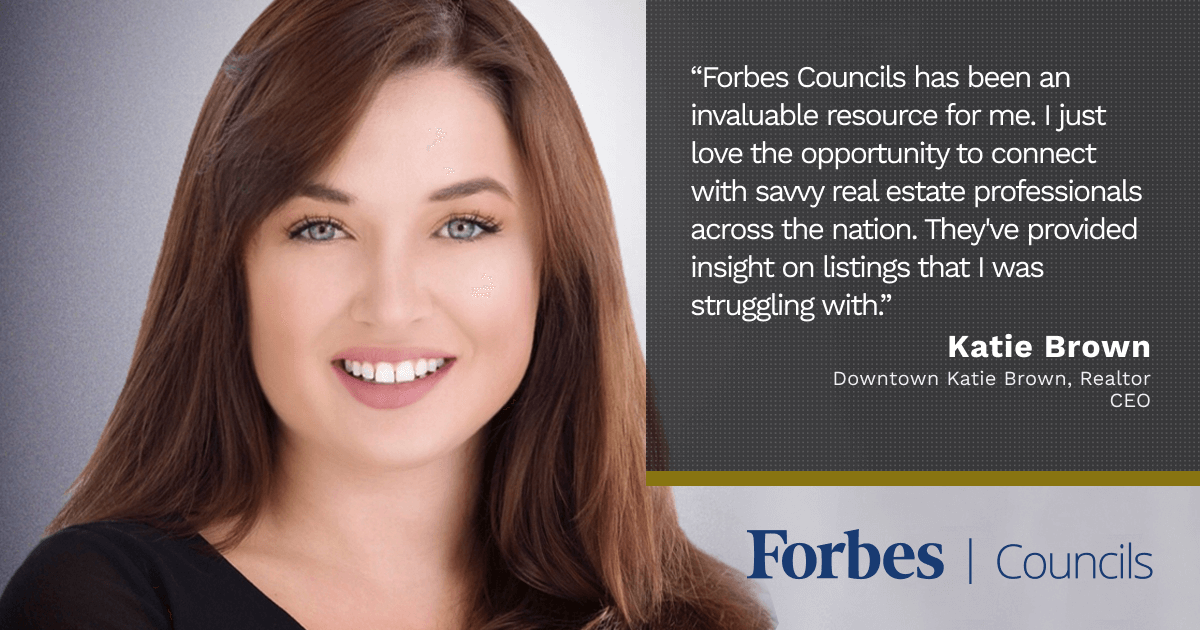 Forbes Councils Gives Katie Brown Valuable Peer Advice and Credibility With Clients