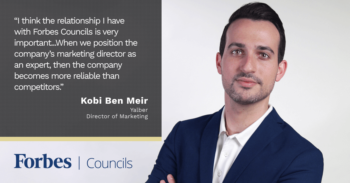 Kobi Ben Meir says Forbes Councils Gives His Company a Competitive Edge