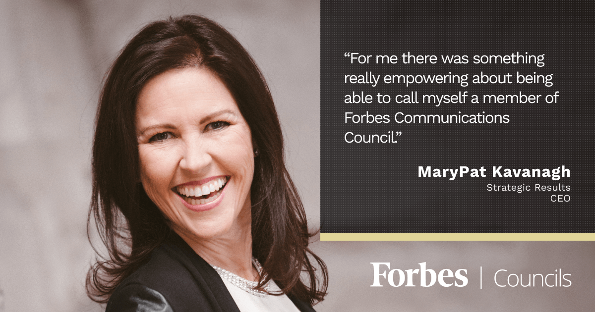 Forbes Councils Gives MaryPat Kavanagh Social Proof With New Clients