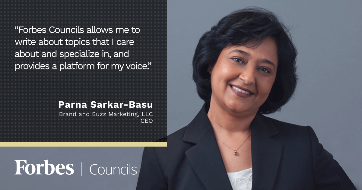 Forbes Councils Gives Parna Sarkar-Basu a Platform for Thought Leadership