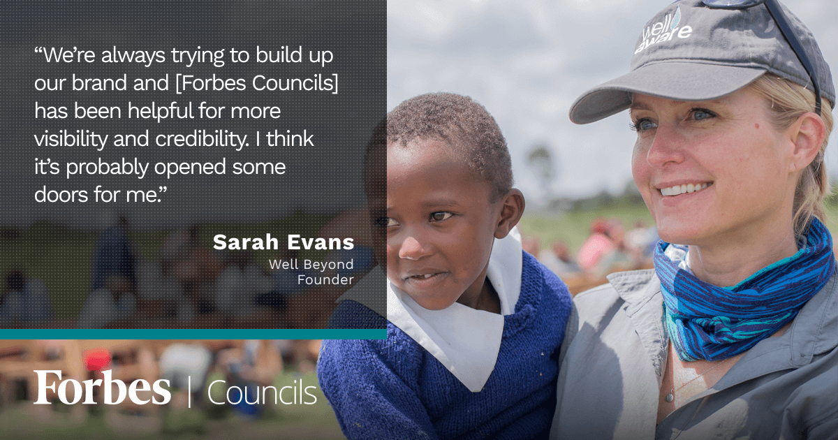 Forbes Councils Gives Sarah Evans a Platform to Share Expertise