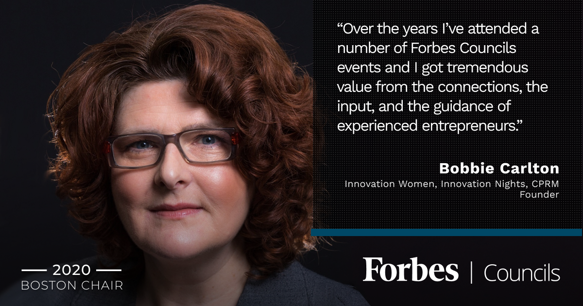 Bobbie Carlton is Forbes Business Council Boston Chair