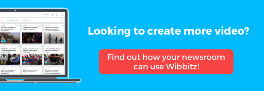Looking to create more video? Find out how your newsroom can use Wibbitz!